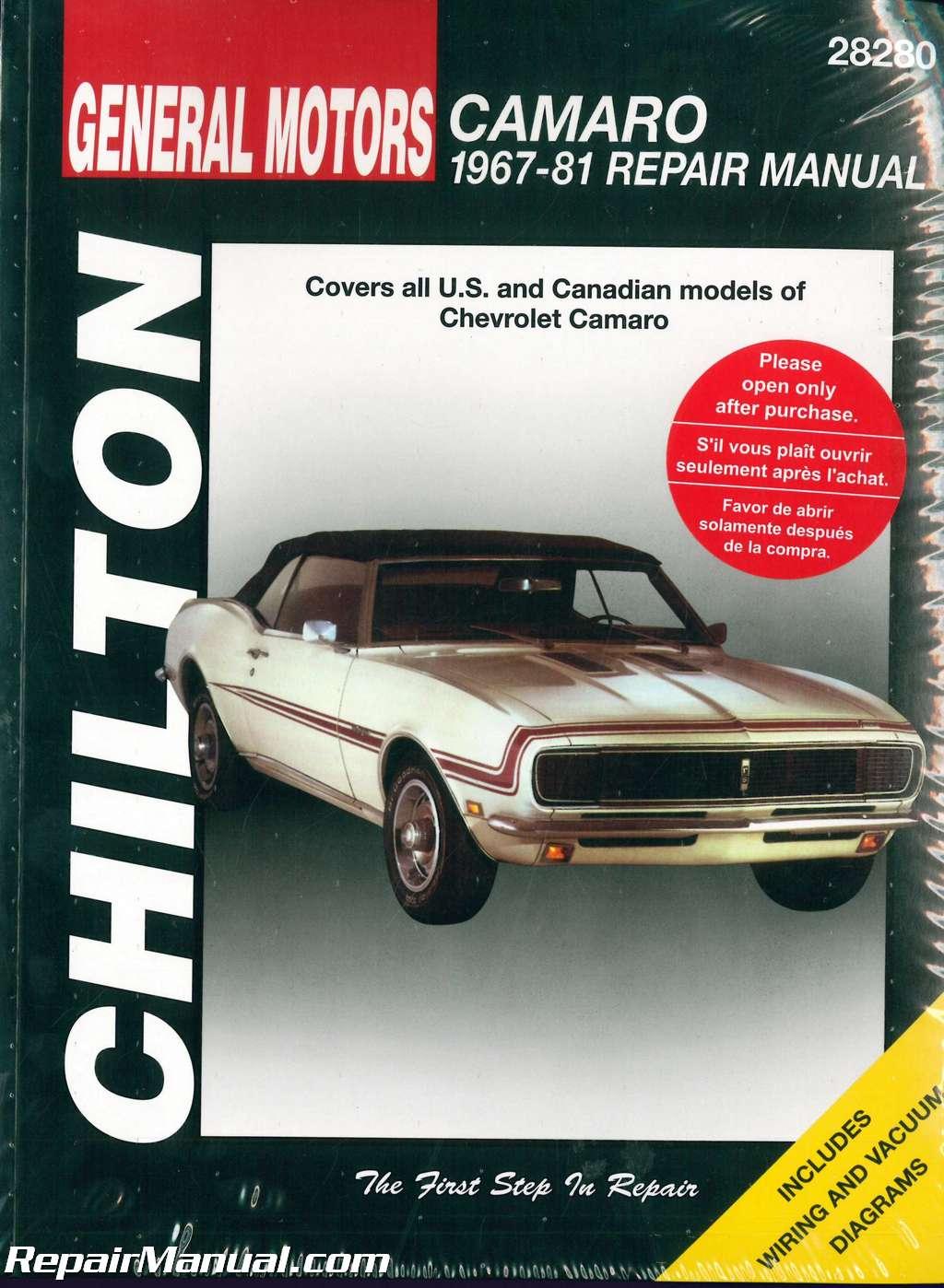 1967 1981 chevrolet camaro repair manual by chilton rh repairmanual com 2014 Chevrolet Camaro SS 2016 Chevy Camaro