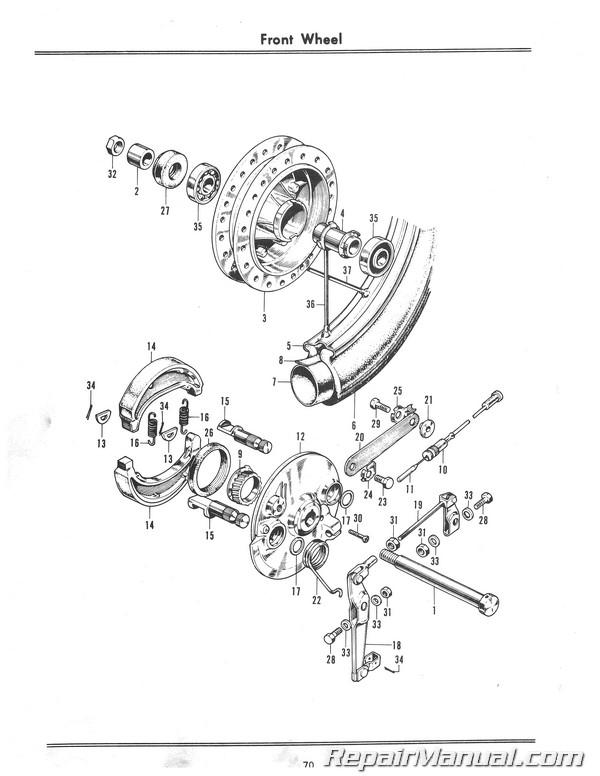 1968 honda cl175 parts 1968 honda cb175 cd175 cl175 parts book Nighthawk 250 Wiring Diagram 1968 1969 honda cl175 k0 scrambler motorcycle parts manual