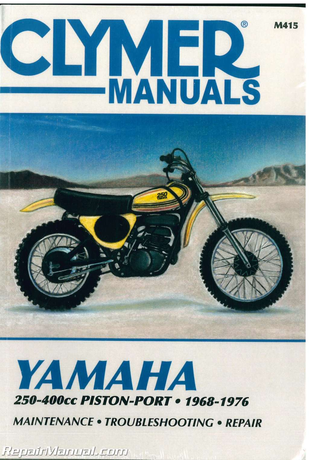 1968-1976 Yamaha 250-400cc Piston Port Clymer Motorcycle Repair Manual