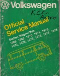 Used 1968 Station Wagon and Bus Official Service Manual