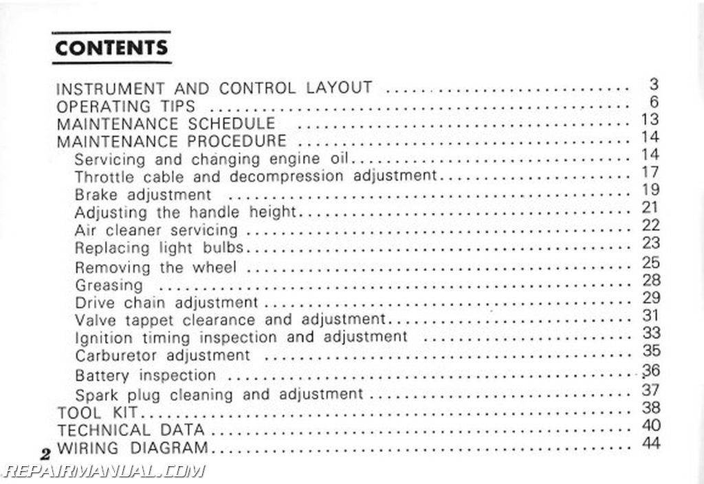 Service & Repair Manuals 1969-1970 Honda PC50A Scooter Owners ...