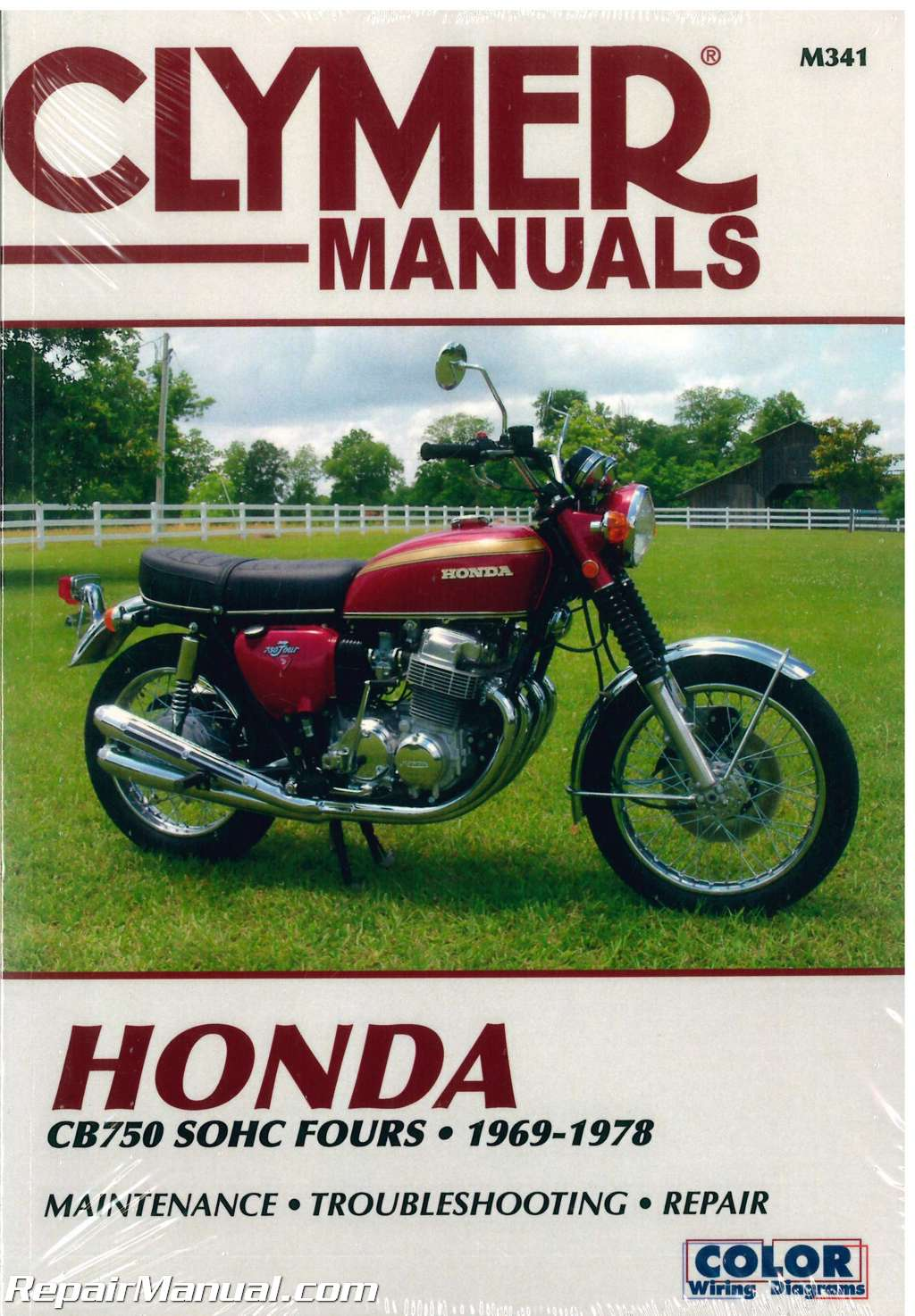 1969 1978 Honda Cb750 Sohc Fours Motorcycle Repair Manual Clymer 1982 Wiring Diagram