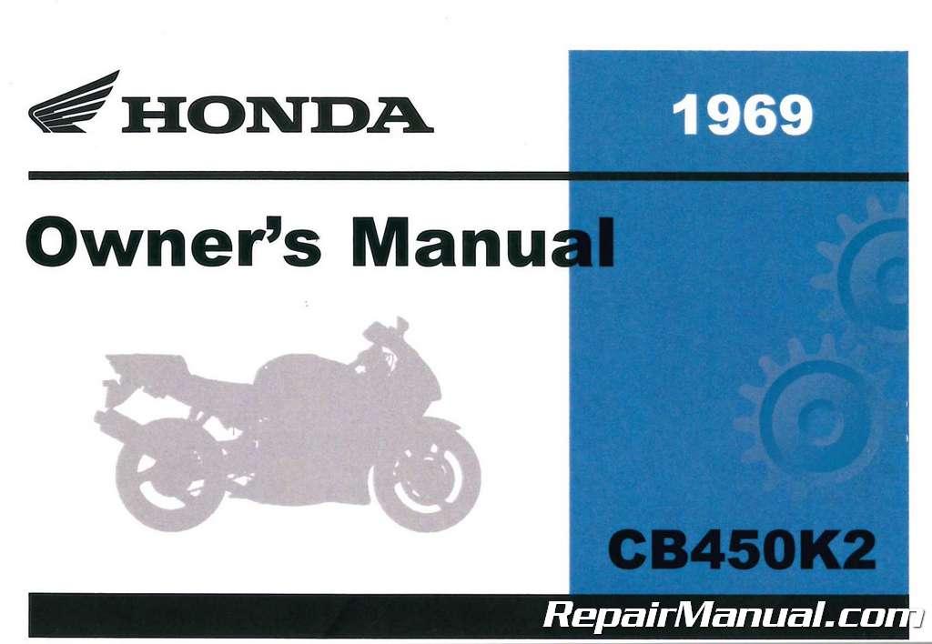 Honda Owners Manual >> 1969 Honda Cb450k1 Motorcycle Owners Manual