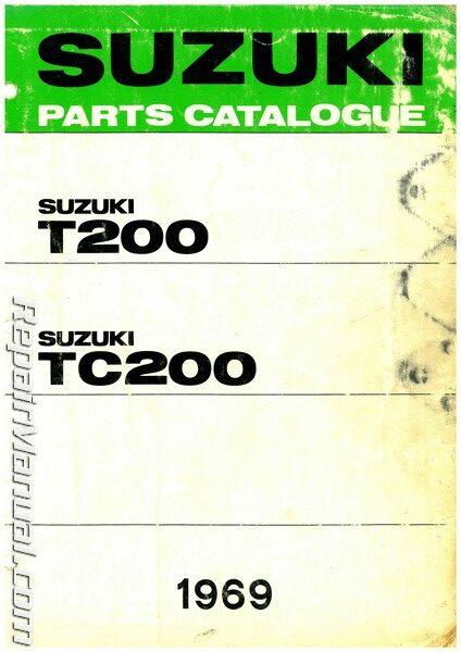 Suzuki T200 Wiring Diagram from www.repairmanual.com