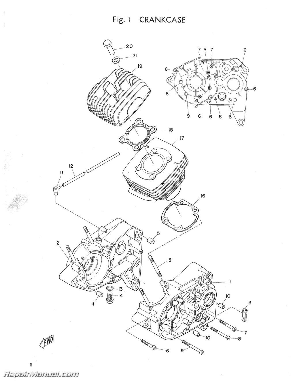 1969 yamaha ct1 series parts manual