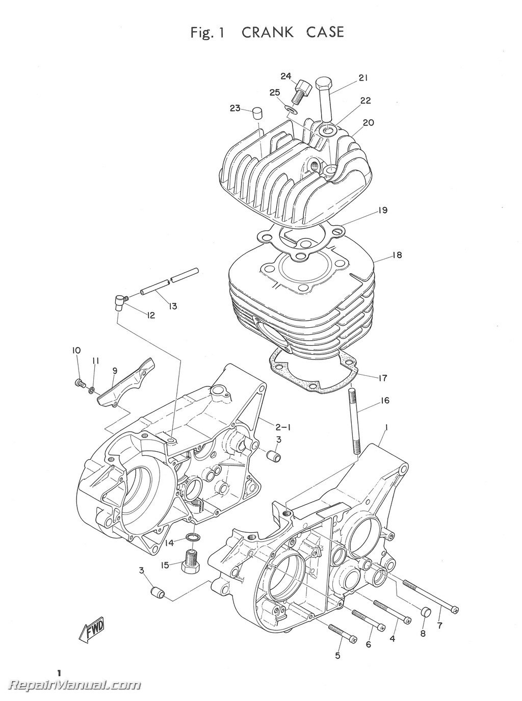 1969 yamaha dt1b parts list parts manual