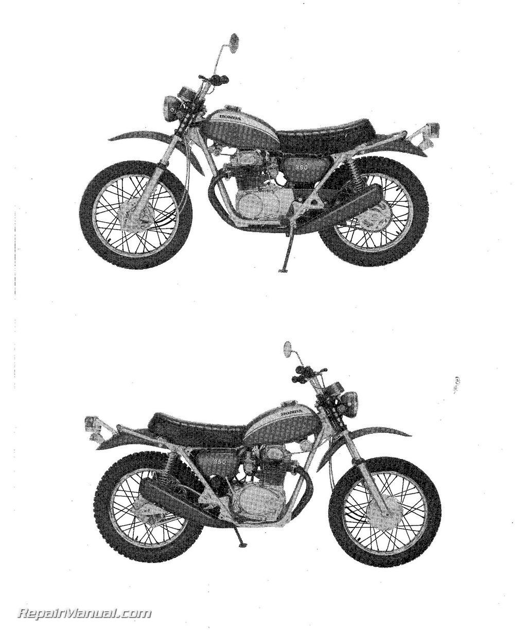 1970-1971 Honda SL350K1 Motosport Motorcycle Parts List