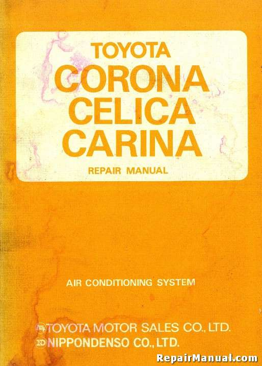 1970 1977 toyota corona celica carina air conditioning repair manual rh repairmanual com toyota corona repair manual toyota corolla repair manual free