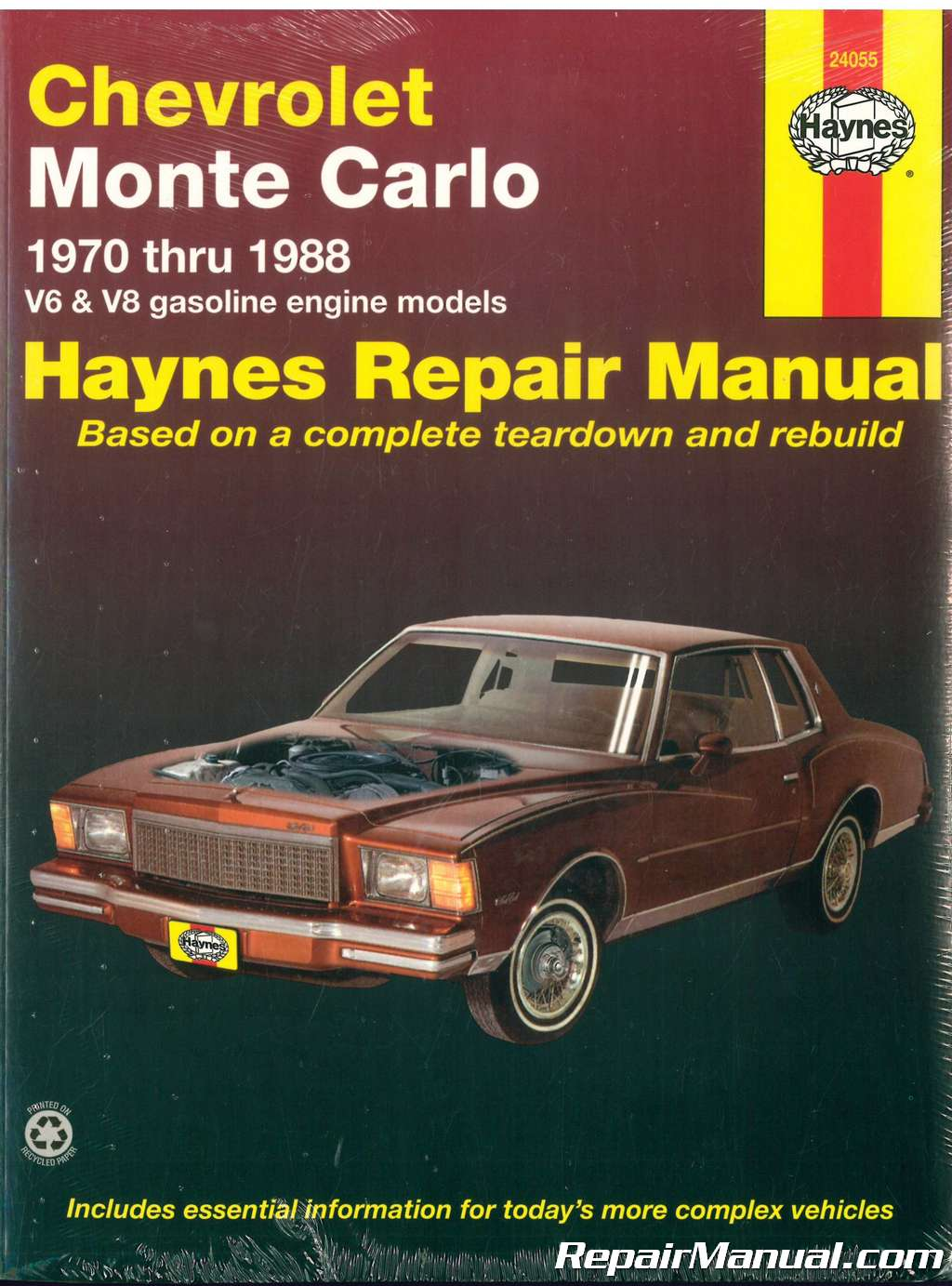 1970 1988 chevrolet monte carlo automobile repair manual haynes rh repairmanual com haynes data book automotive repair manuals haynes automotive repair manual