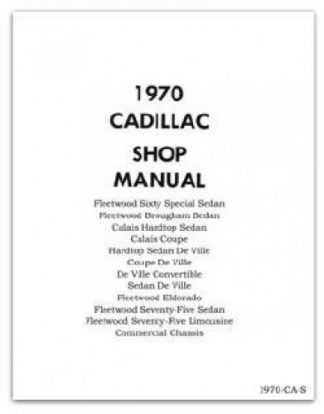 1970 Cadillac Workshop Manual