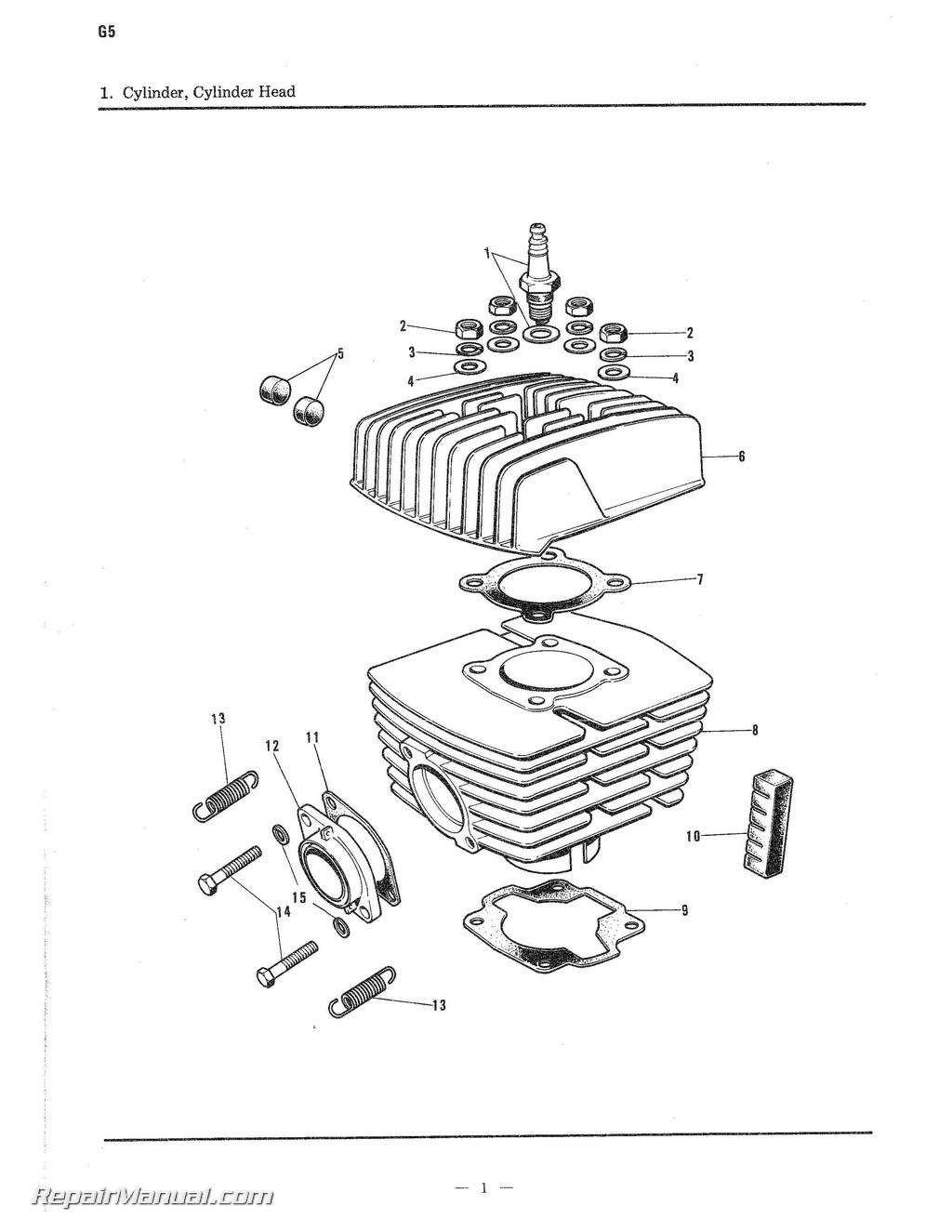 1971 1972 Kawasaki G5 100cc Parts Manual