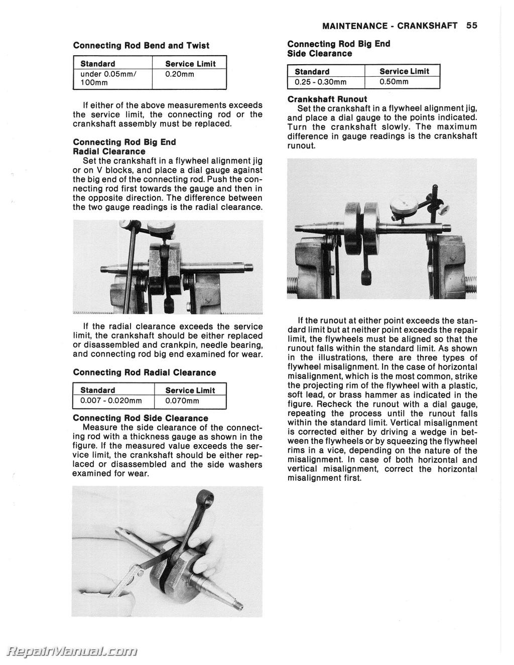 1971 1980 kawasaki mt1 kv75 motorcycle service manual ebay. Black Bedroom Furniture Sets. Home Design Ideas