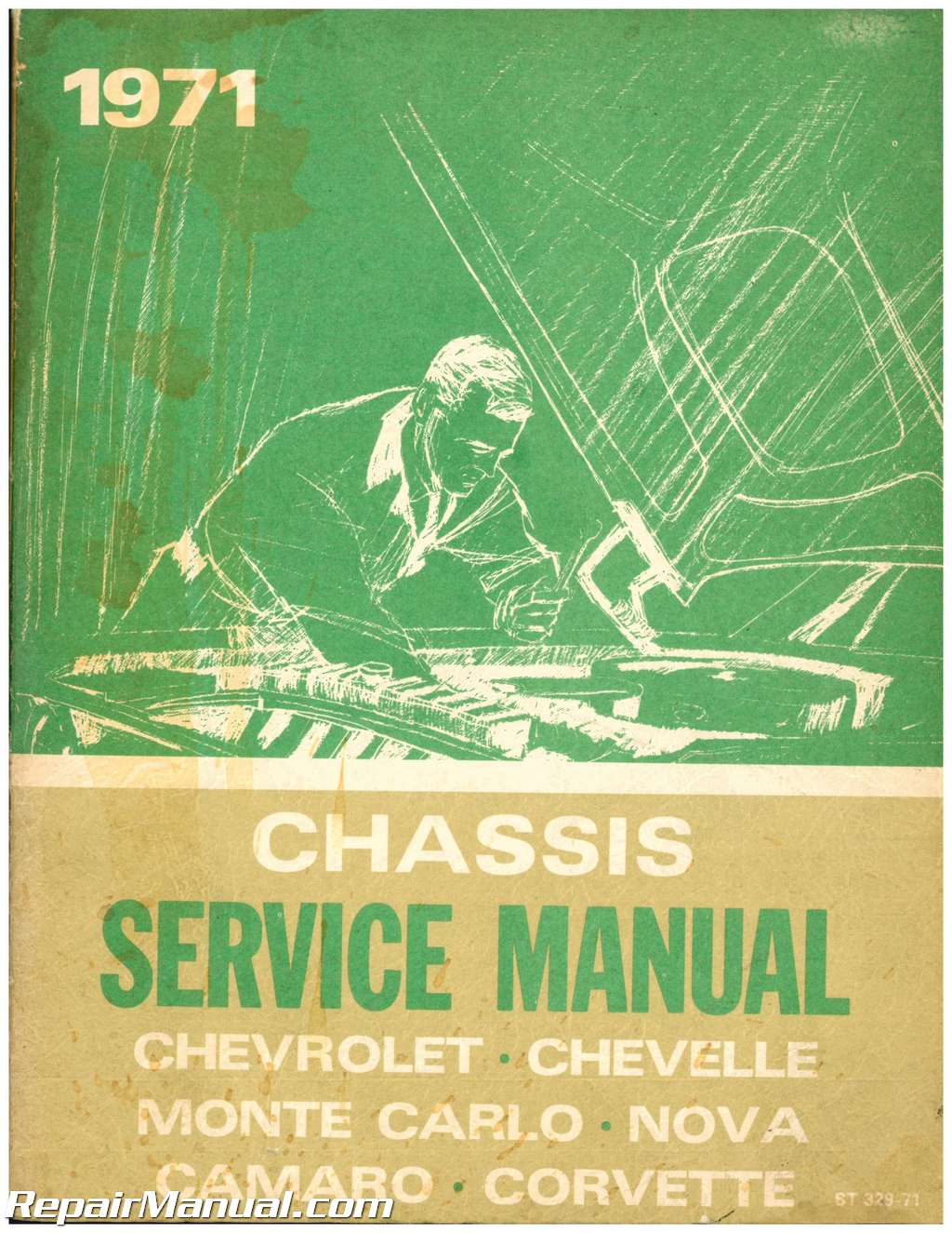 Used 1971 Chevrolet Chevelle Camaro Monte Carlo Nova And Corvette Chassis Service  Manual