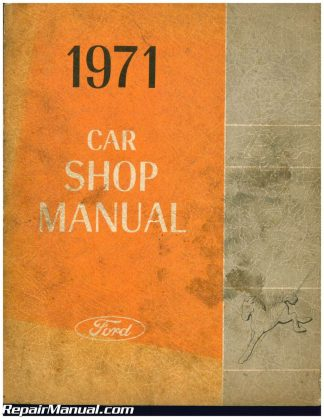 used 1971 ford pinto car shop manual