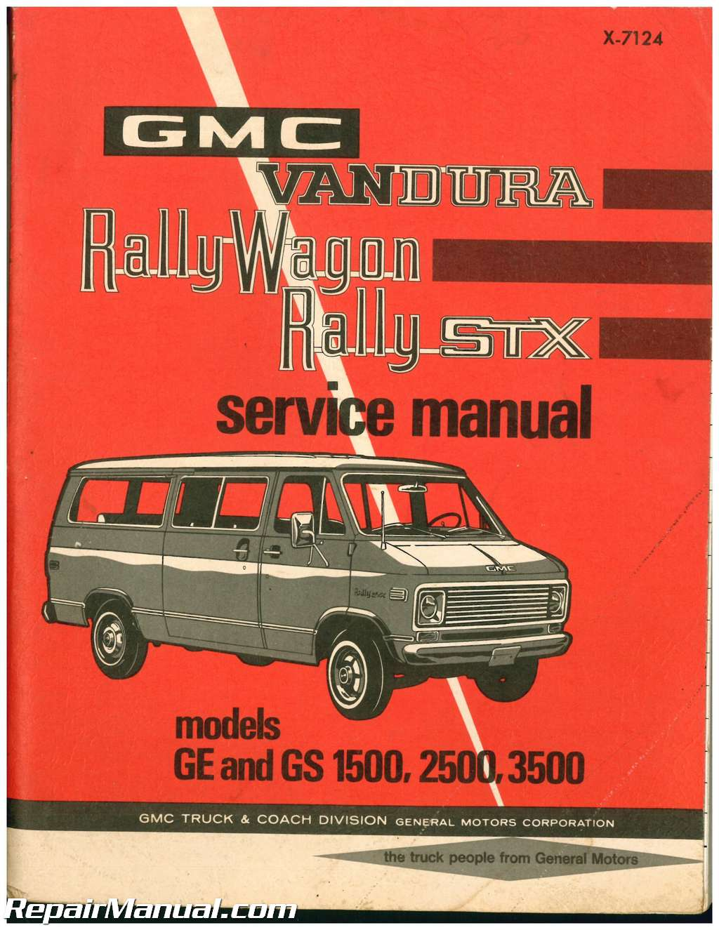 used 1971 gmc vandura rally wagon rally stx service manual ebay rh ebay com GMC Vandura 2500 Parts GMC Vandura 2500 Conversion Interior