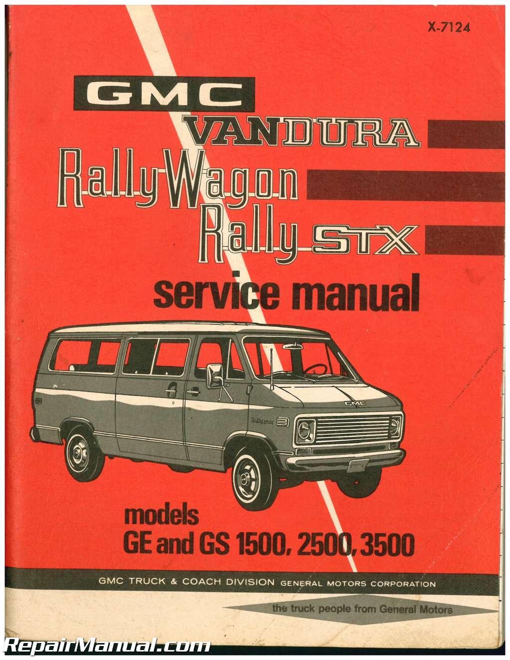 used 1971 gmc vandura rally wagon rally stx service manual