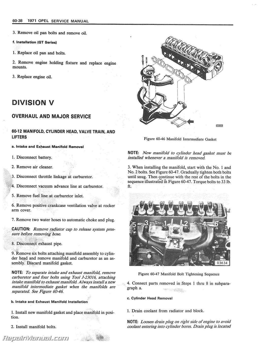 1971 opel 1900 gt service manual rh repairmanual com opel kadett service manual pdf opel kadett e service manual