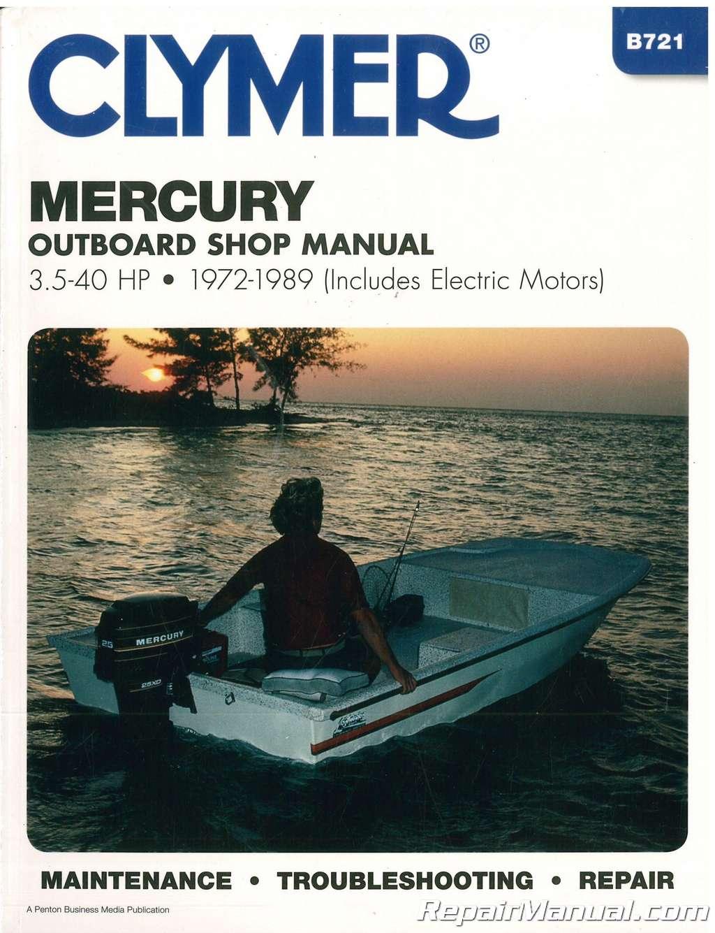 mercury 40hp motor manual