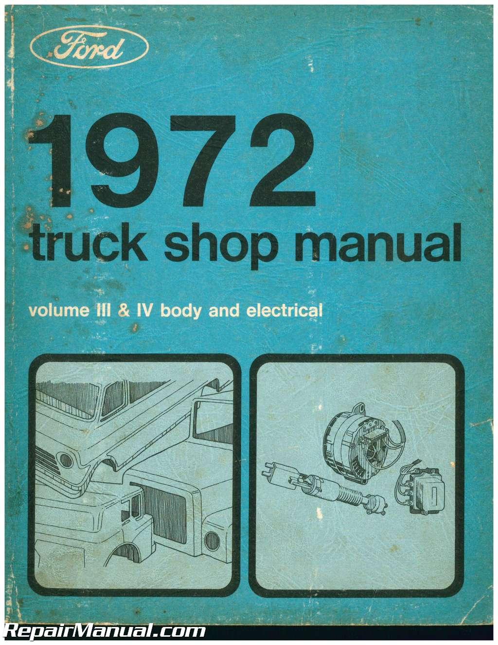 Ford Truck Shop Manual Polaris Electric Terminal Fuse Circuit Board Genesis Ffi Ficht Virage Array Used 1972 Volume 3 4 Body And Electrical Rh Repairmanual