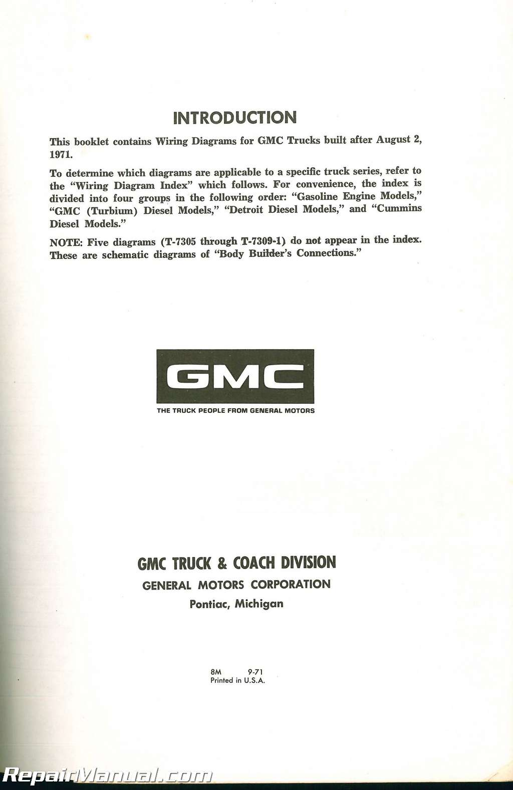 Used 1972 Gmc Truck Wiring Diagrams