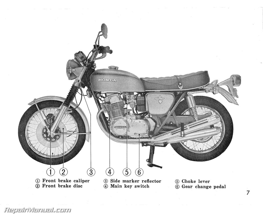1972 Honda Cb750k2 Motorcycle Owner Manual Ebay