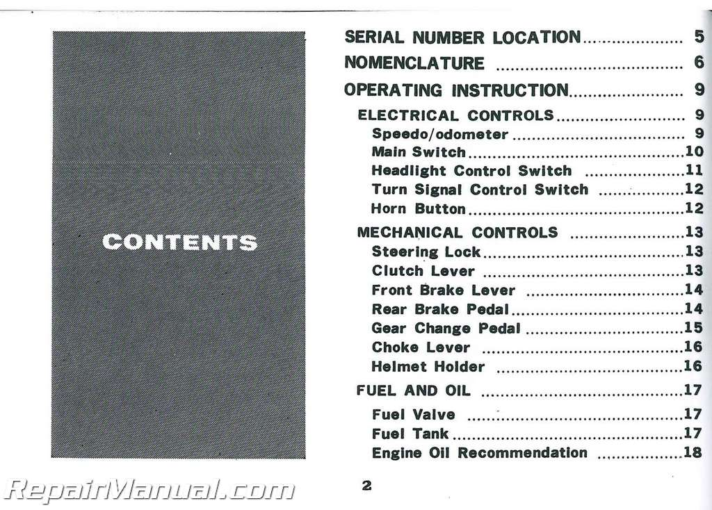 1972 Honda CL100K2 Motorcycle Owners Manual_002 honda cl100 wiring diagram honda qa50 wiring diagram ~ odicis 1972 CL100 Project at panicattacktreatment.co
