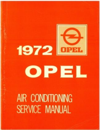 1972 Opel 1900 GT Air Conditioning Service Manual reprint