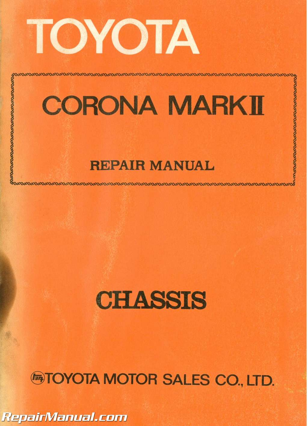 Used 1972 Toyota Corona Mark Ii Chassis Group Repair Manual