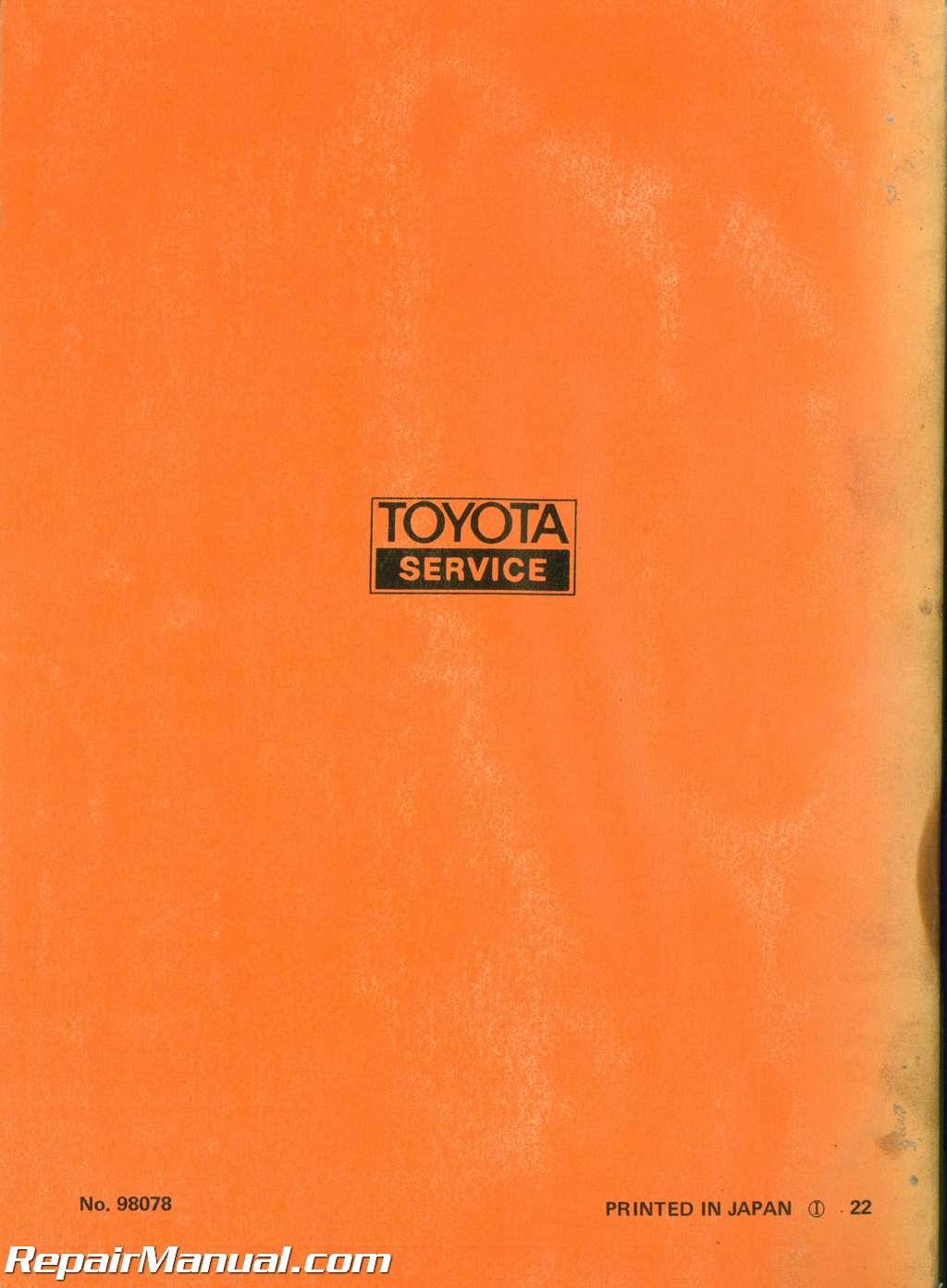 Used 1972 Toyota Corona Mark Ii Chassis Group Repair Manual