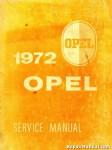 1972 Opel 1900 & GT Service Manual