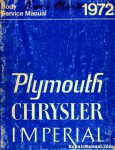1972 Plymouth Chrysler Imperial Body Service Manual
