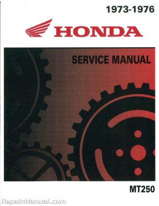 1973 1974 1975 1976 honda mt250 elsinore motorcycle service manual  repairmanual.com