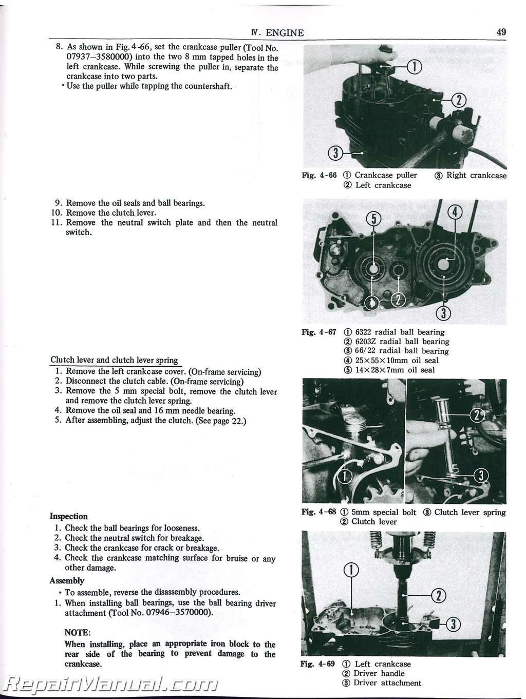 1973 1974 1975 1976 honda mt250 elsinore motorcycle service manual rh repairmanual com