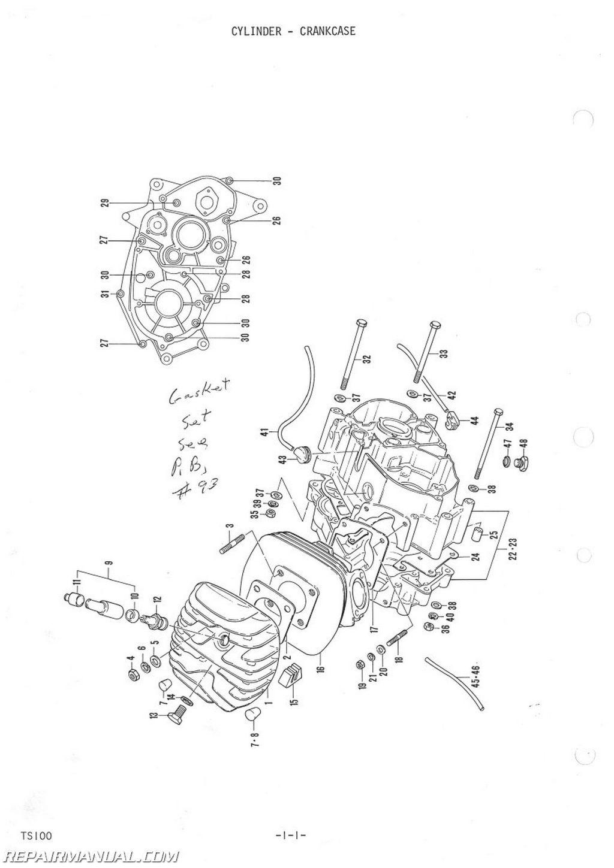 1973 1974 suzuki ts100 tc100 parts manual rh repairmanual com Suzuki TS 100 Parts suzuki ts 100 service manual pdf