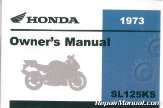 1973 honda sl125k2 motorcycle owners manual