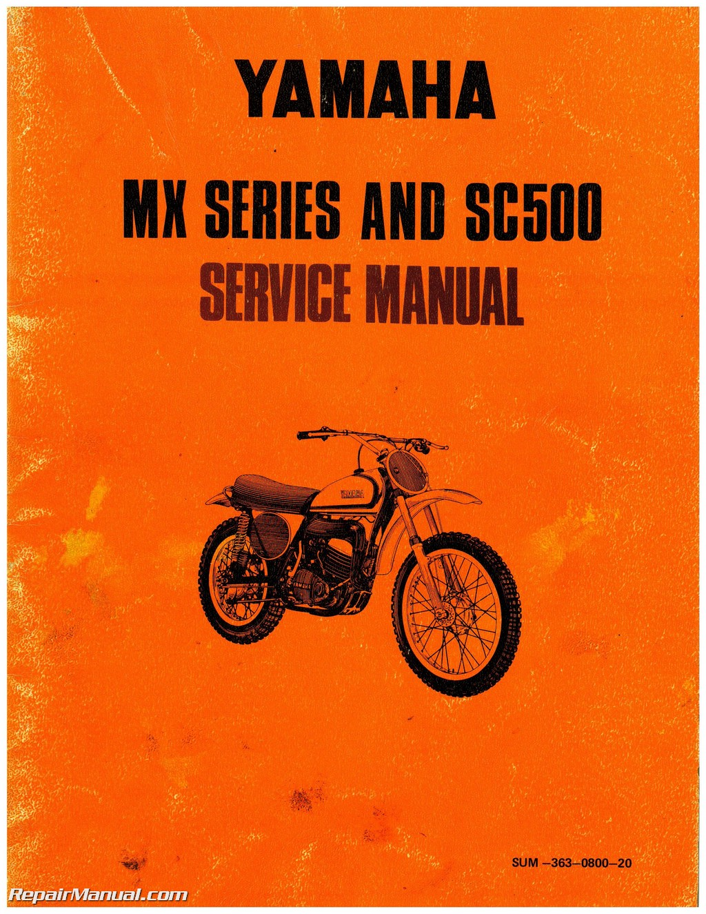1973 yamaha ltmx atmx mx250 mx360 sc500 motorcycle manual rh repairmanual com yamaha motorcycle manual pdf motorcycle manual yamaha road star warrior