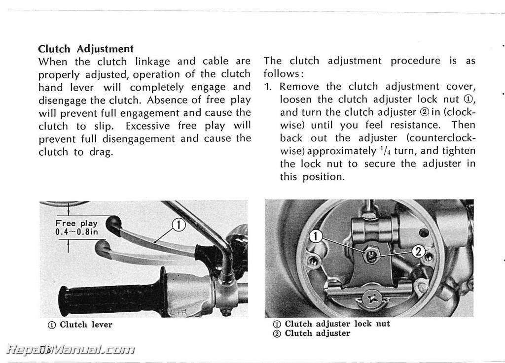 1974 1975 1976 Honda XL70 Owners Manual