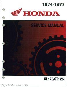 1974-1978 XL125, 1977 CT125 Honda Motorcycle Shop Manual_001