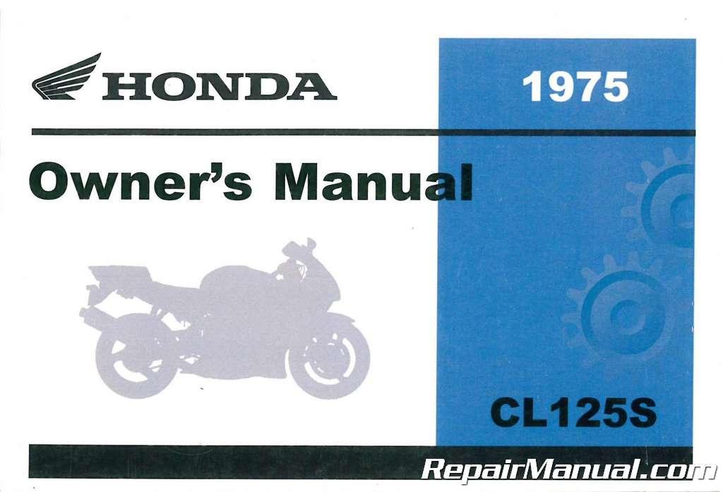 Honda Owners Manual >> 1974 Honda Cl125s1 Scrambler Motorcycle Owners Manual