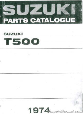 1974 suzuki t500 parts manual