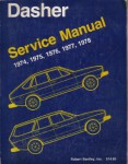 Used 1974 Volkswagon Dasher Factory Service Manual