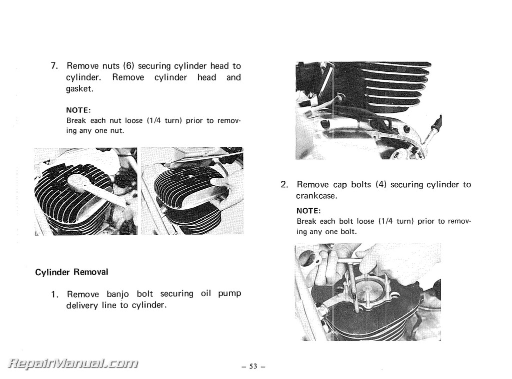 1974 yamaha ty250a motorcycle owners service manual