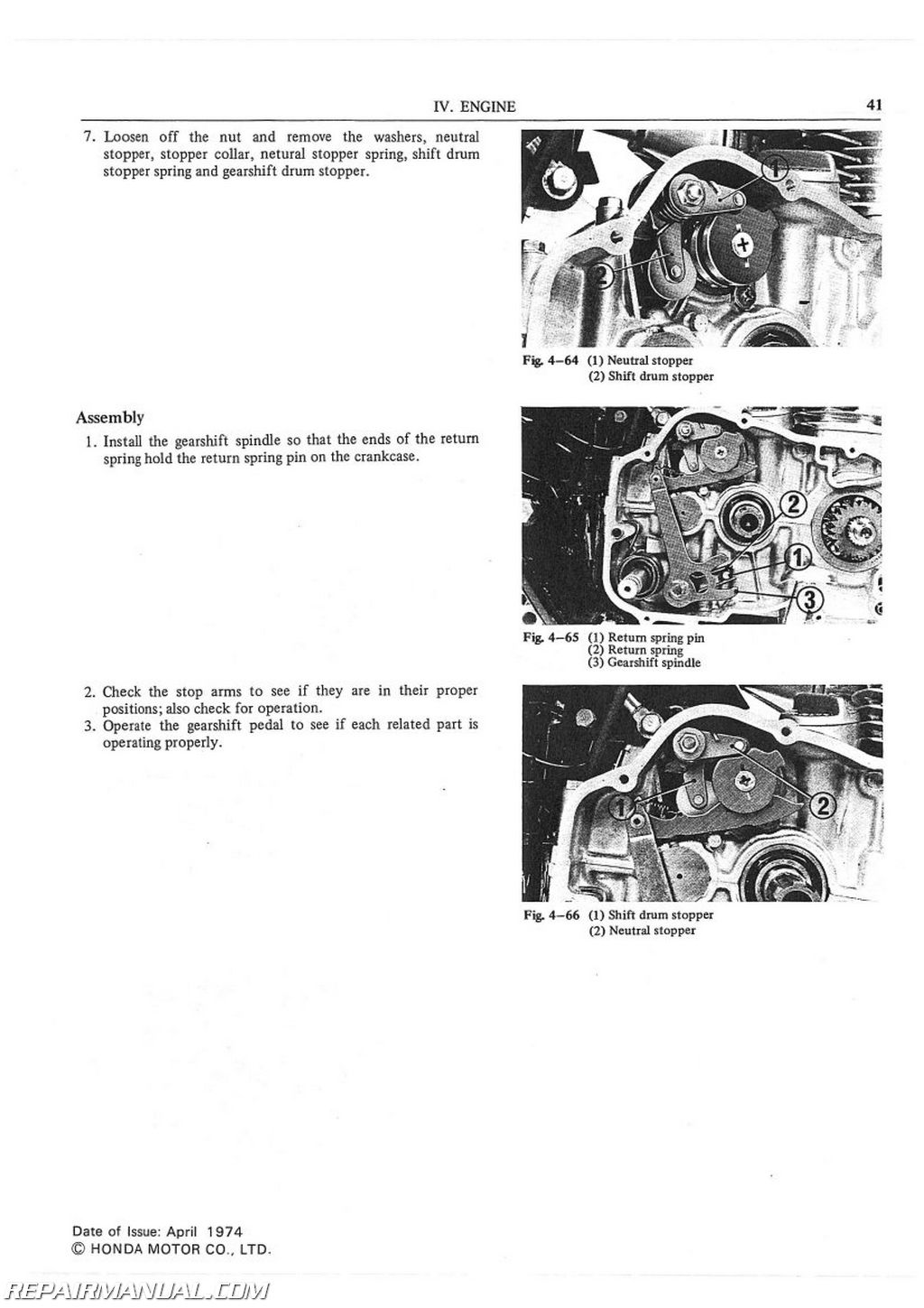 1975 1976 Honda Cb500t Motorcycle Service Manual