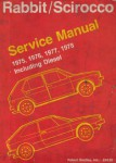 Used 1975 Volkswagon Rabbit and Scirocco Factory Service Manual