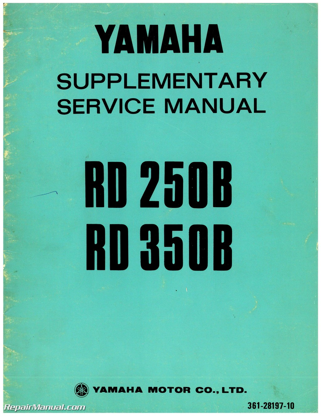 1975 Yamaha RD250B and 1975 Yamaha RD350B Service Manual Supplement
