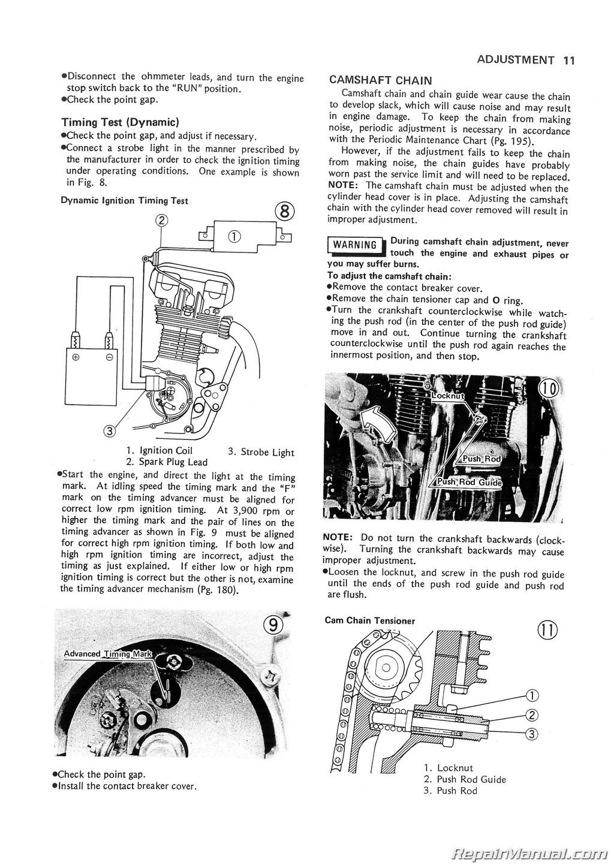 Kawasaki Kz B Twin Motorcycle Service Manual Page on 800 Kawasaki Motorcycle Wiring Diagrams
