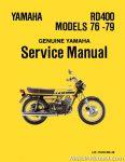 1976-1979 Yamaha RD400 Two Stroke Motorcycle Service Manual
