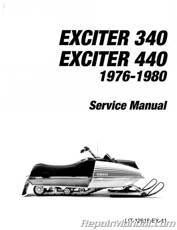 1976 1980 Yamaha Exciter Manual Ex340 Ex440 Snowmobile Repair