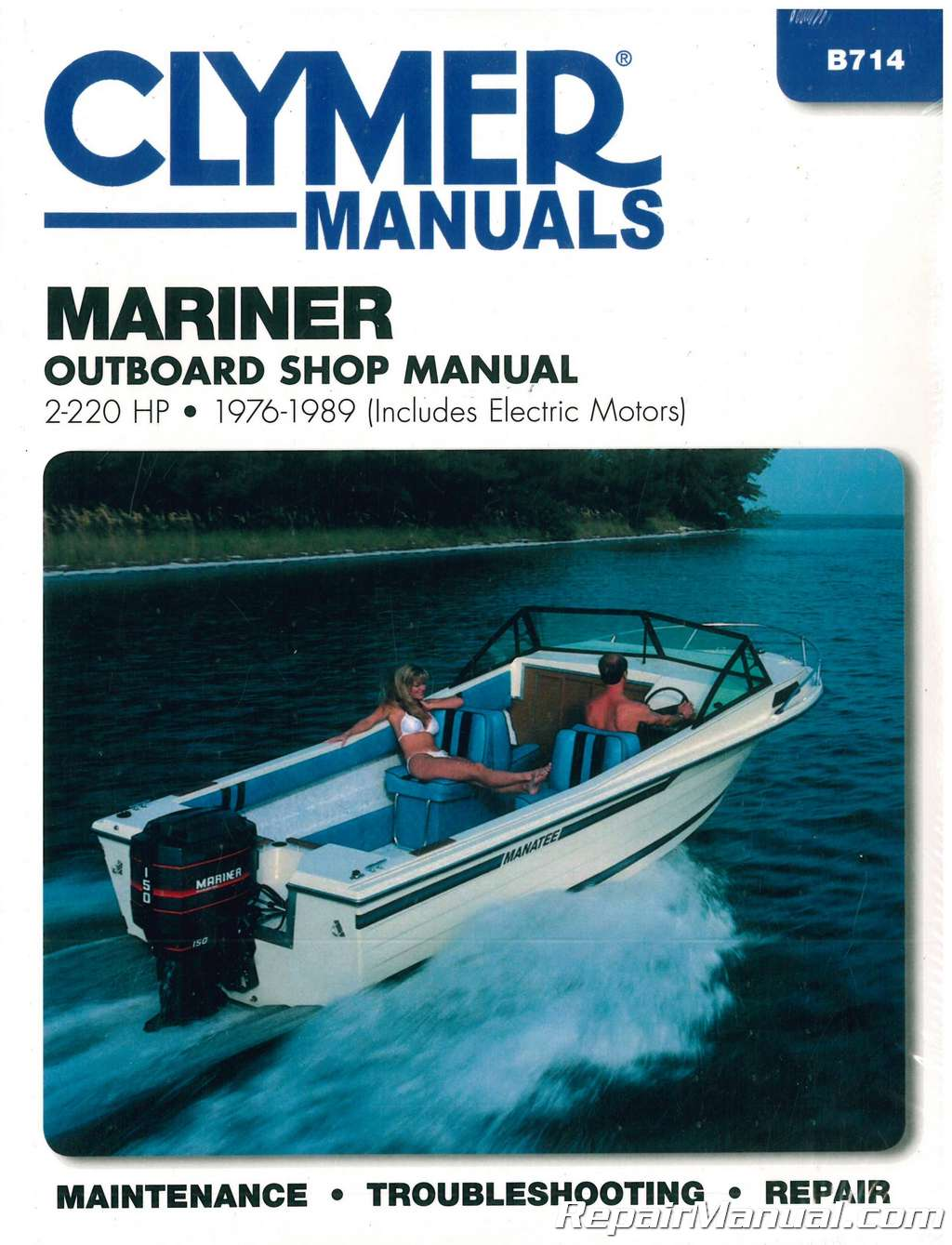1976 1989 mariner 2 220 hp outboard boat engine repair manual rh repairmanual com Clymer Freeride clymer marine service manuals