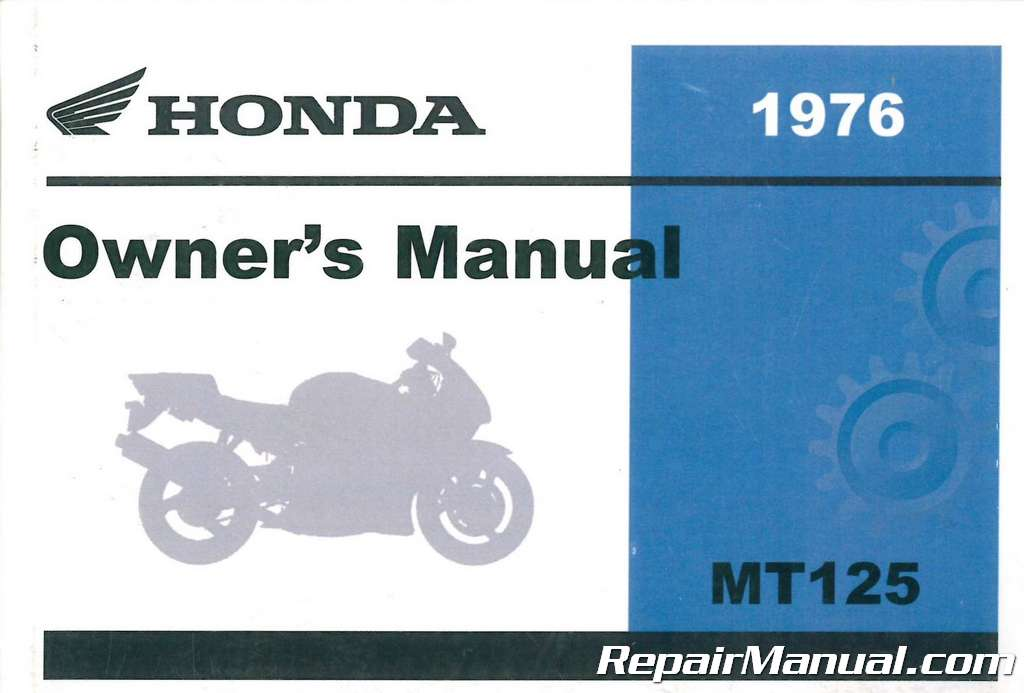 1976 Honda MT125 Elsinore Motorcycle Owners Manual